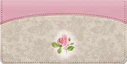 Victorian Rose Leather checkbook Cover